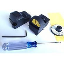 Ade Advanced Optics Tactical Micro Compact Mini Open Reflex Red Dot Sight with Integral Weaver-picatinny Mount for Pistol / Rifle / Shotgun