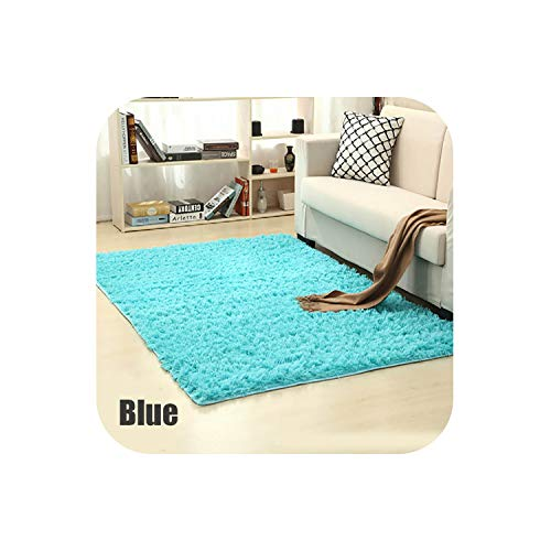 Carpet for Living Room Home Warm Plush Floor Rugs Fluffy Mats Kids Room Faux Fur Area Rug Living Room Mats Silky Rugs,Blue,80x200cm