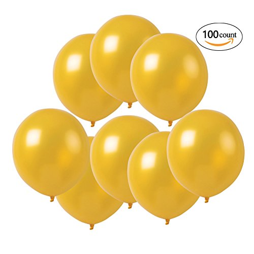 100 ct Pearlized Gold Balloon 10