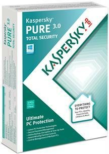 Kaspersky Lab PURE 3.0 3 USER (WIN XP,VISTA,WIN 7,WIN 8)