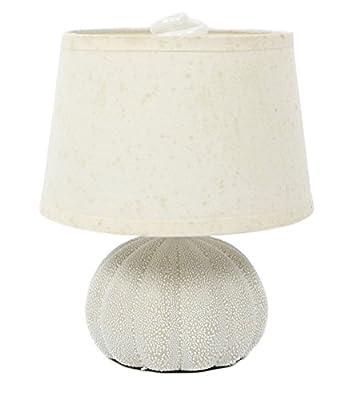 "Sea Urchin Beige Desk Table Lamp-Beach Decor-11"""