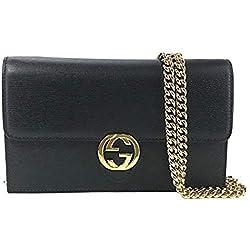 Gucci Emily Guccissima Leather Hobo Handbag 322226 Black Bag