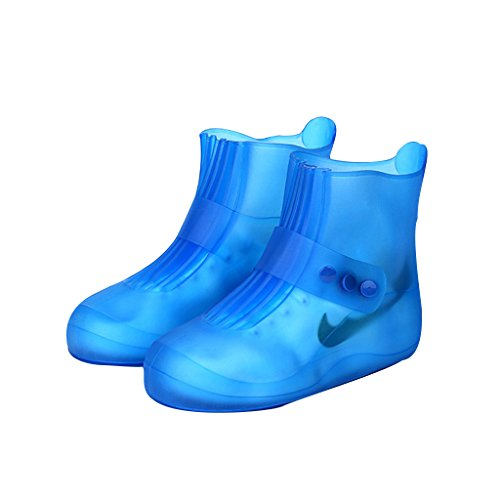 Maketook Unisex Adults and Kids Seamless Rain Boots Shoes - 5 Colors - 8 Size Blue pzx9DTyrHs