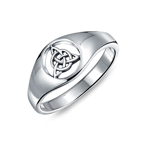 Friendship Viking Celtic Trinity Knot Triquetra Ring Signet Ring For Women For Men 925 Sterling - Celtic Knots Band Continuous