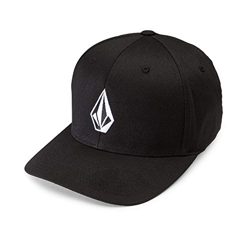 (Volcom Men's Full Stone Flexfit Stretch Hat, Black Small/Medium)
