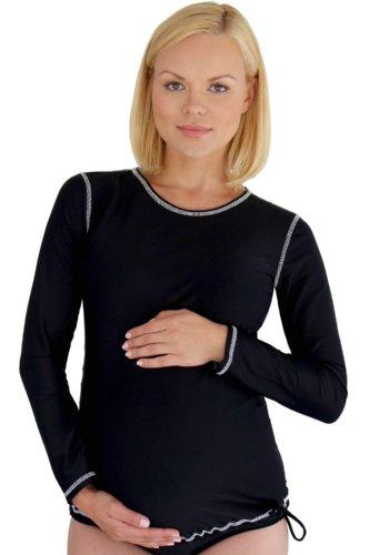 Mermaid Maternity Women's Maternity Long Sleeve Rash Guard Swim Shirt Medium