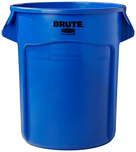 - Rubbermaid Commercial Products BRUTE Heavy-Duty Round Waste/Utility Container with Venting Channels, 20-gallon, Blue (FG262000BLUE)