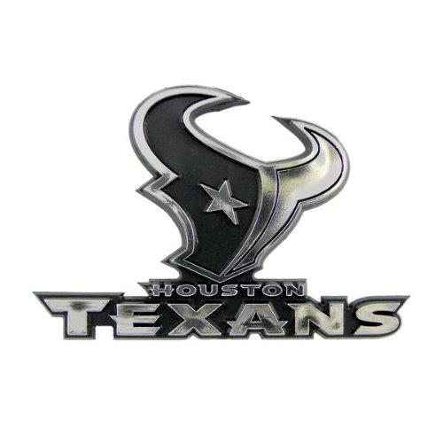 Hall Of Fame Emblem - Houston Texans Car 3D Chrome Auto Emblem