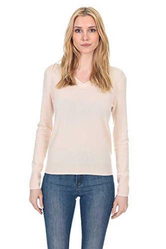 Beige Sweater Cashmere (State Fusio Women's Cashmere Wool Long Sleeve Pullover V Neck Soft and Classic Fashion Sweater)