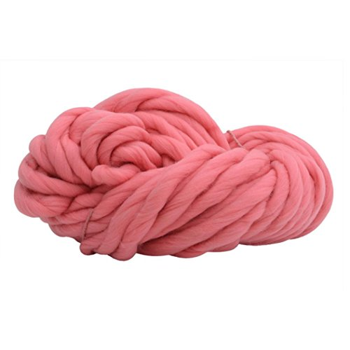 - 8 Colors Cotton Yarn Roving Thick Line Hand Chunky Knitted DIY Blanket Scarf Craft Materials Spinning Sewing Wool Fibre Roving for Needle Felting (G)