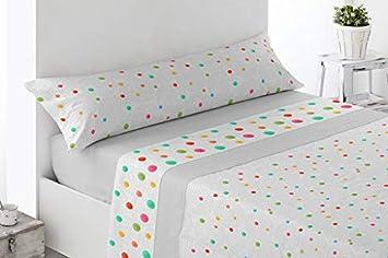 Energy Colors Textil Hogar Bena Gris, 150/_x/_200/_cm Juego S/ábanas Estampada Verano 3 Piezas Microfibra Fontar