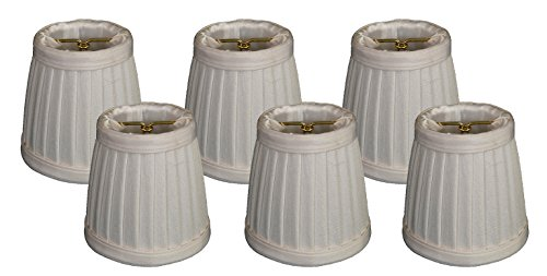 - Royal Designs Pleated Empire Chandelier Lamp Shade, Eggshell, Set of 6, Size 4 (CS-110EG-6)