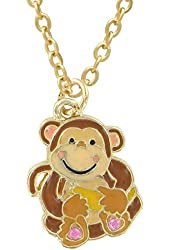 Monkey Pendant Necklace in Figural Gift Box