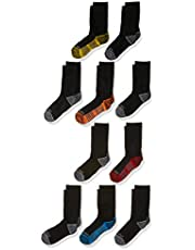 Fruit of the Loom boys 10 Pack Zoned Cushioned Crew Socks