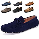 KRIMUS Men Loafers Shoes Luxury Brand Breathable Casual Dress Shoes-blue-41