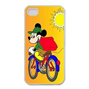iPhone 4,4S Cell Phone Case White Minnie Mouse Hrwdov Hard protective Case Shell Cover