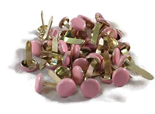 Country Croppers Pastel Pink Colored Round Brads Large - Bulk 50ct ()