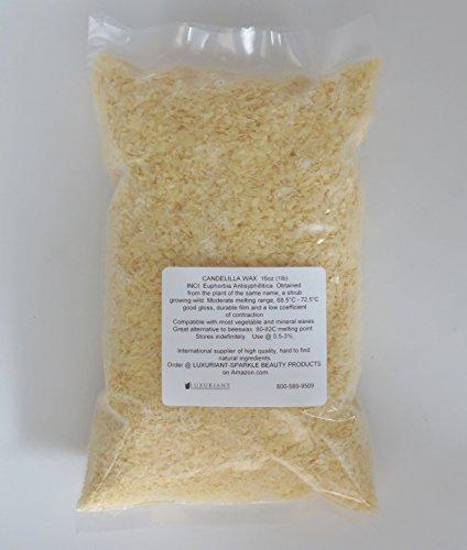 Candelilla Wax 100% Natural-Vegan Alternative to Beeswax-16 oz