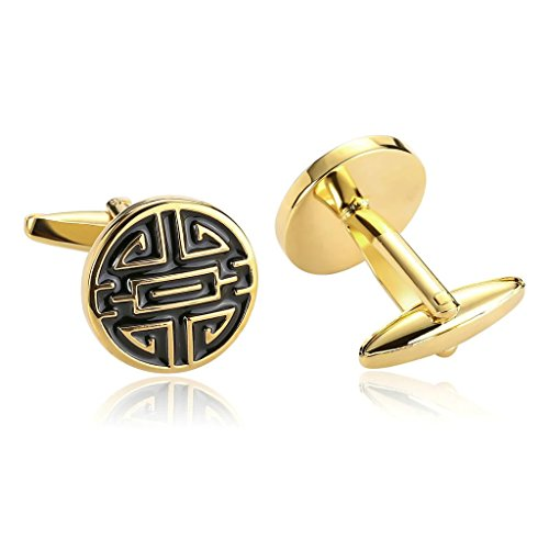epinki-men-stainless-steel-simple-engraved-chinese-character-gold-black-cufflinks