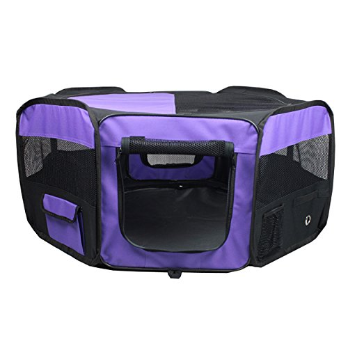 Iconic Pet Portable Pet Soft Play Pen, Purple, Small by Iconic Pet (Image #1)