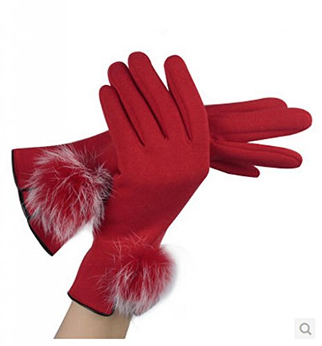 Woman Winter Warmer Full Finger Flannel Warm Gloves