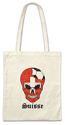 Urban Backwoods Switzerland Football Skull I Bolsas de la Compra Reutilizables