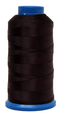 Chocolate Bonded Leather - Mandala Crafts Bonded Nylon Thread for Sewing Leather, Upholstery, Jeans and Weaving Hair; Heavy-Duty; 1500 Yards Size 69 T70 (Chocolate Brown)