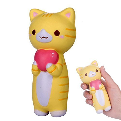 6c1b42f974e15 Cute Kawaii Animal Cat with Heart Squishy Jumbo Kitty Pussy Slow Rising for  Adult Kids Fun Toy Gift. by senco-girls
