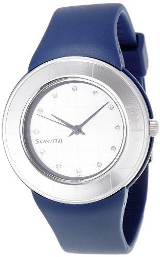 Sonata Fashion Fibre Analog Silver Dial Women #39;s Watch NM8991PP04W / NL8991PP04W