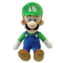"Sanei Officially Licensed Super Mario Plush 15"" Large Luigi Japanese Import (japan import)"