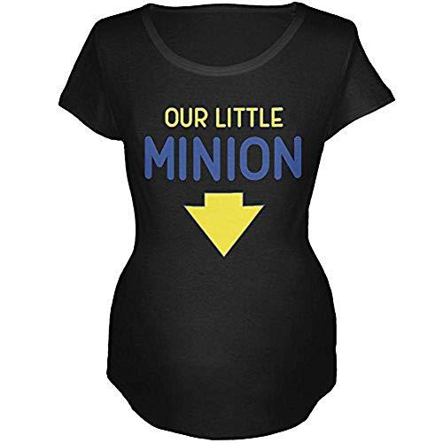 Our Little Minion Maternity Soft T Shirt Black -