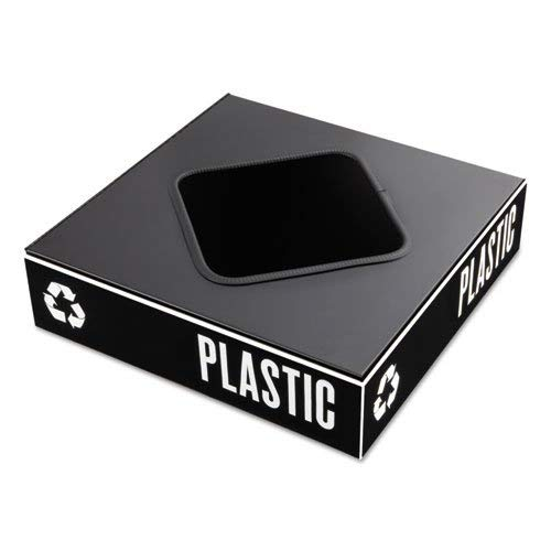 Safco - Public Square Recycling Containers Lids 15 1/4 X 15 1/4 X 2 Black