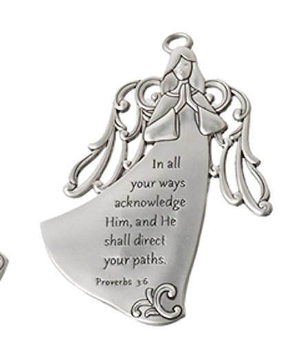 Angel Inspirational Visor Clip - In all your ways acknowledge him, and he shall direct your paths Ganz ER31454
