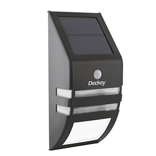 Deckey Pure White Solar Wall Light, Bright Sola...