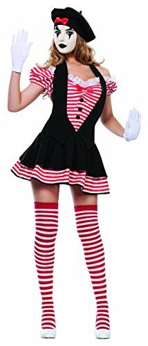 Starline Women's Body Language Sexy Mime Costume Set, Black/Red, ()