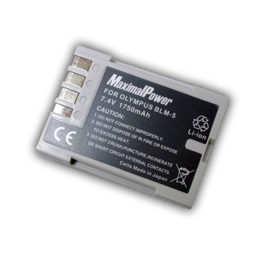 Maximal Power DB OLY BLM5 Replacement Battery Olympus BLM5 for Olympus DSLR E3, E5, E-30 Cameras