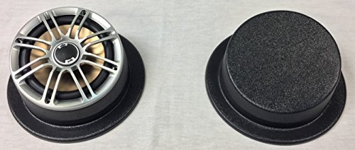 GMT Inc Universal Round Angled Flanged Speaker Pod Fits Up To 6 1/2 Round Speakers With Sealed Bottom