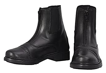 TuffRider Children's Starter Front Zip Paddock Boots, Black, 1
