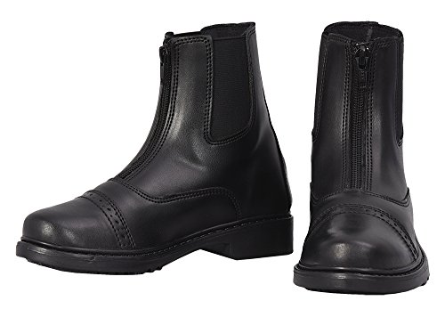 Barn Zip Boot - TuffRider Children's Starter Front Zip Paddock Boots, Black, 3