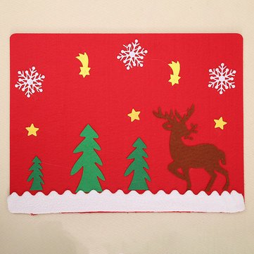 System Collections Generic Queue System String Decoration - Christmas Party Home Decoration Elk Glove Table Mats Ornament Toys Kids Children Gift - Mat Set Back Snarl - 1PCs