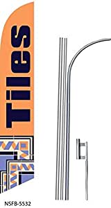(2) two TILES 15' Swooper #8 Feather Flags KIT with poles+spikes
