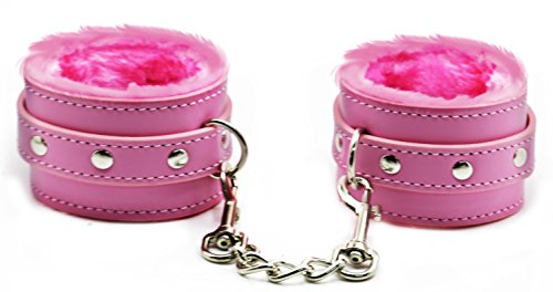 Fuzzy Bondage Restraint Wristband Handcuffs, For Fetish Bondage, Sexy Handcuffs Best Restraint Kits For Sex Play (Pink)