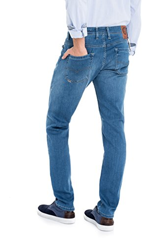 Salsa - Pantalons anti-odeur et anti-tache délavage moyen clair - Slender Slim Carrot Spartan - Homme