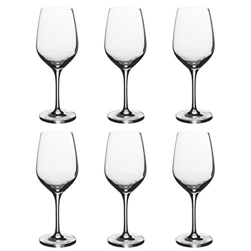 White Glass European Wine - Stolzle Eclipse Wine Glasses, 16.75 oz (Set of 6)