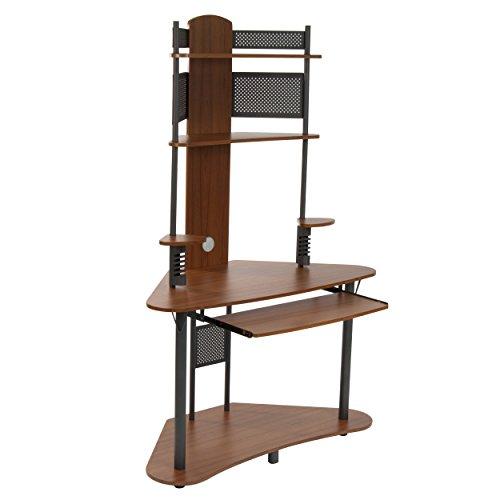 small corner computer desk tower hutch wood storage student shelves home office 687925761577 ebay. Black Bedroom Furniture Sets. Home Design Ideas