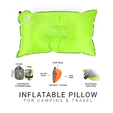 Camping Pillow by Inspired Equipment | Compressible & Portable | Best Camping Gear For Kids | Cool Gift For Campers & Hikers