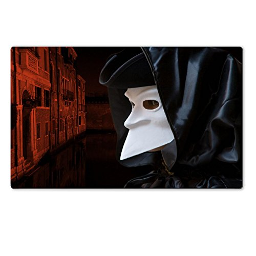 History Of Masks In Venice (Luxlady Large TableMat Man in Carnival mask in Venice IMAGE ID 2861652)
