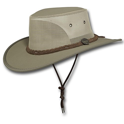 Barmah Hats Canvas Drover Hat 1057BE / 1057KH / 1057BR / 1057BL - Khaki - Large
