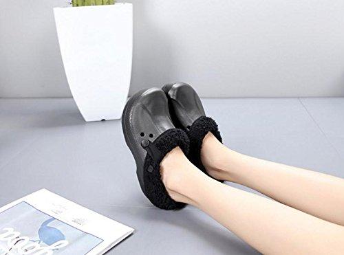 Hombre Agujero Zapatos algodón Felpa Invierno amp;XY Calentar Casa 45 W Zapatillas ZqCSS5