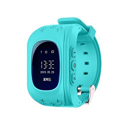 ANDROSET Waterproof GSM GPS 2 Way Talk Tracker Smart Watch with Real-time Tracking, Geo-fencing, for IOS Android Apple Iphone Samsung - BLUE